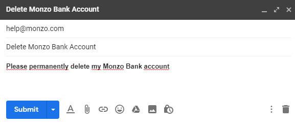 Как удалить счет в Monzo Bank