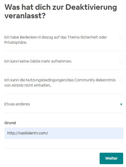 Airbnb Konto Löschen