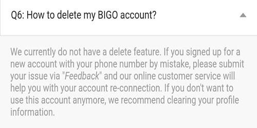 Bigo Live Account Delete