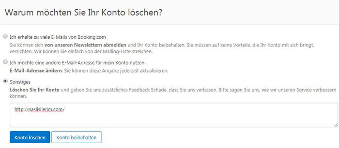 Booking.Com Konto Löschen