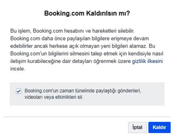 Booking.com Hesap Silme