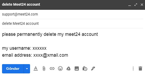 Cancellazione Dell'account Meet24