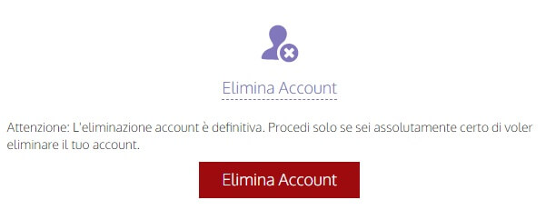 Cancellazione Dell'account Tourbar