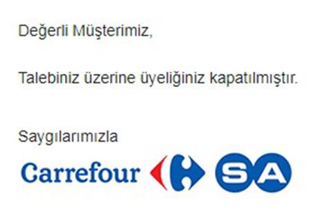 Carrefoursa hesabı nasıl silinir
