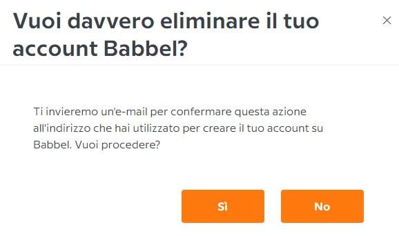 Chiusura Dell'account Babbel
