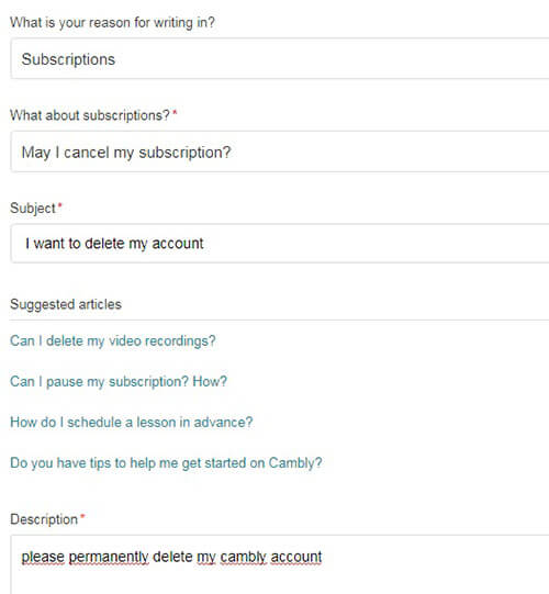 Come Eliminare Un Account Cambly