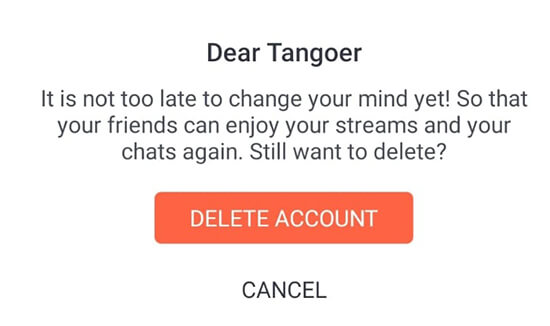 Come Eliminare Un Account Tango