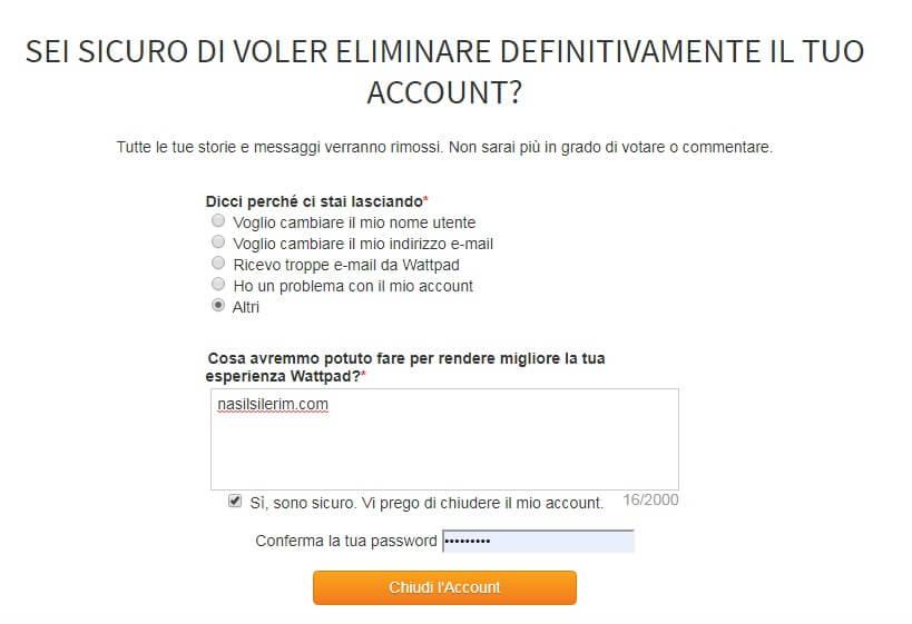 Come Eliminare Un Account Wattpad