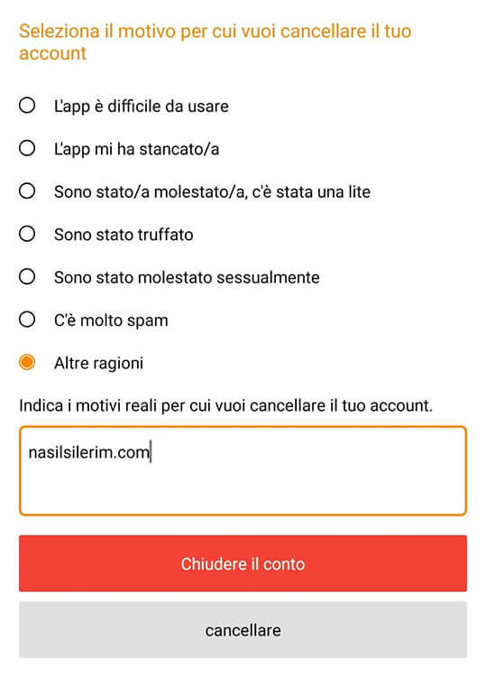 Come Eliminare l'account Airtripp