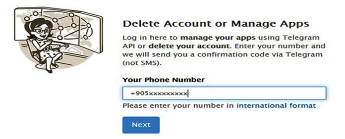Come eliminare il mio account telegram