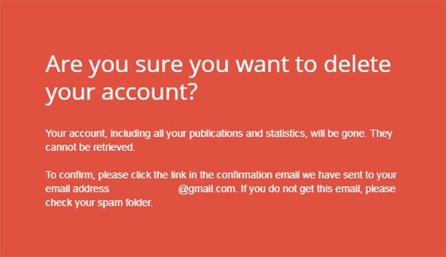 Come eliminare un account Issuu