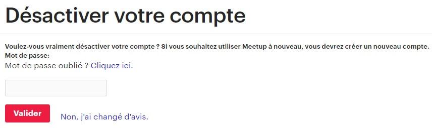 Comment Supprimer Un Compte Meetup
