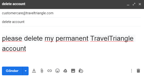 Comment Supprimer Un Compte TravelTriangle
