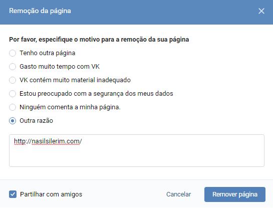 Como Excluir Uma Conta Vkontakte