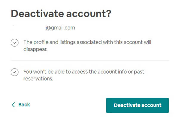 Disable Airbnb Account