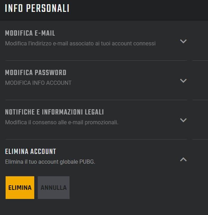 Elimina Account PUBG