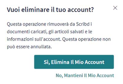 Eliminazione Di Un Account Scribd