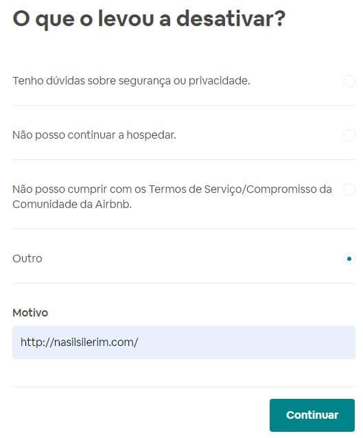 Exclusão De Conta Do Airbnb