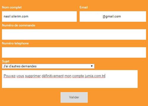 Fermer le compte jumia.com pour l'Algérie