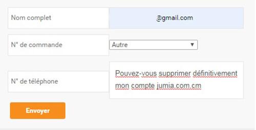 Fermer le compte jumia.com pour le Cameroun
