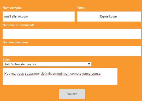 Fermer le compte jumia.com pour le Sénégal
