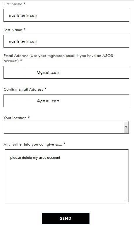How To Delete Asos Account