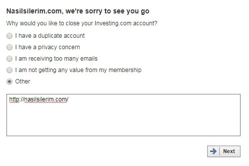 How To Delete Investing.com Account