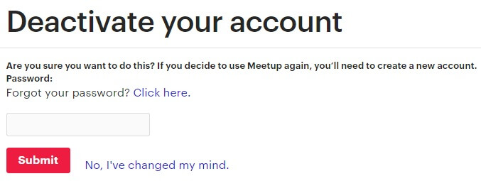 How To Delete Meetup Account