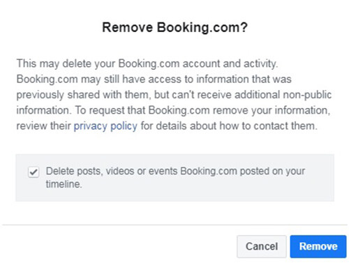 How to delete Booking Account