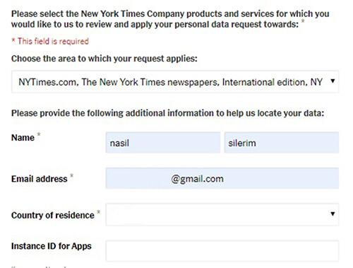 Löschen Sie The New York Times-Konto