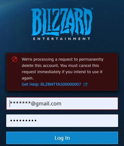 Löschen des Blizzard Kontos