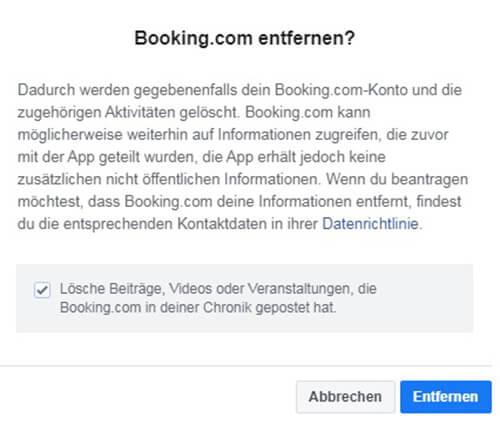 Löschen des Booking.com-Kontos