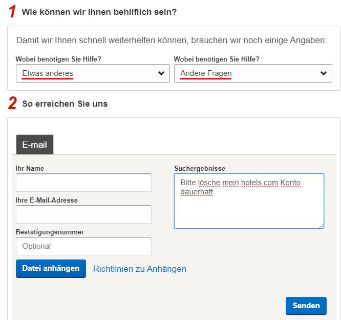 Löschen Sie Ein Hotels.com Konto