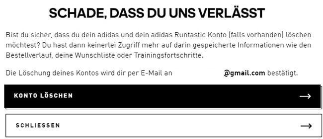 So Loschen Sie Ein Adidas-Konto