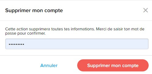 Suppression De Compte ClassDojo