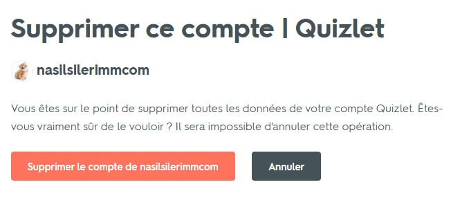 Suppression De Compte Quizlet