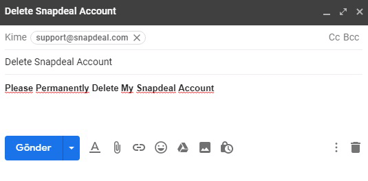 Suppression De Compte Snapdeal
