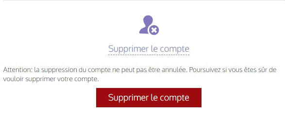 Suppression De Compte Tourbar