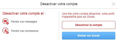 Suppression De Compte Zoosk