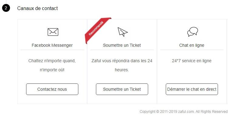 Suppression de compte Zaful.com