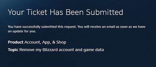 Suppression du compte de jeu Blizzard