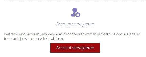 Tourbar Account Verwijderen