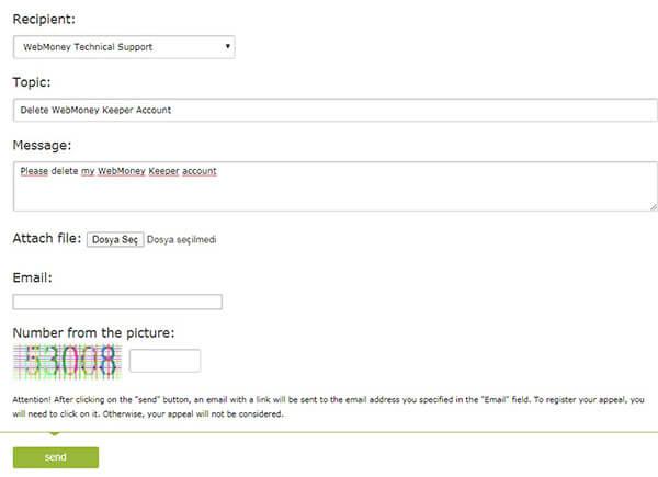 WebMoney Keeper Account Verwijderen