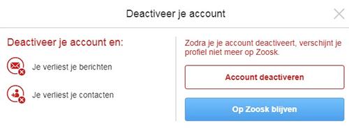 Zoosk Account Verwijderen