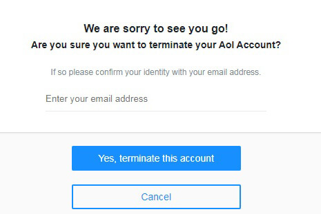 aol mail closure