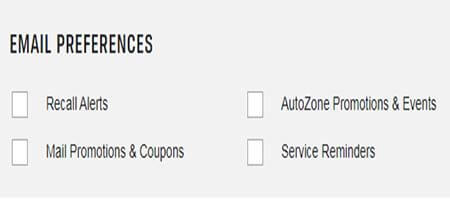 autozone email preferences cancel