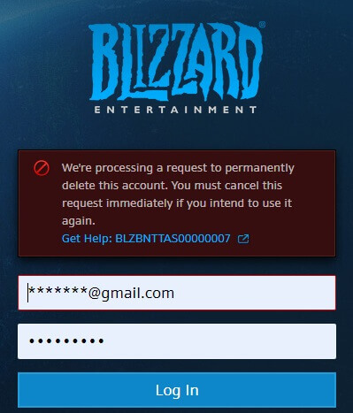 blizzard account closing