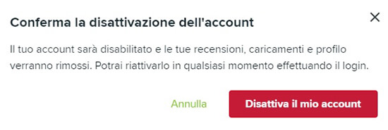 come eliminare un account geek