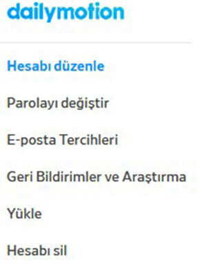 dailymotion hesabimi nasil kapatirim