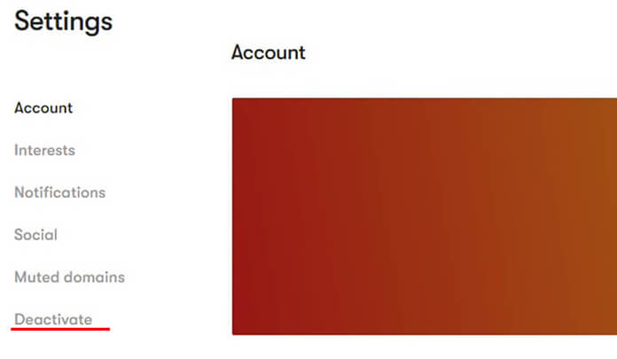 how to delete mix account
